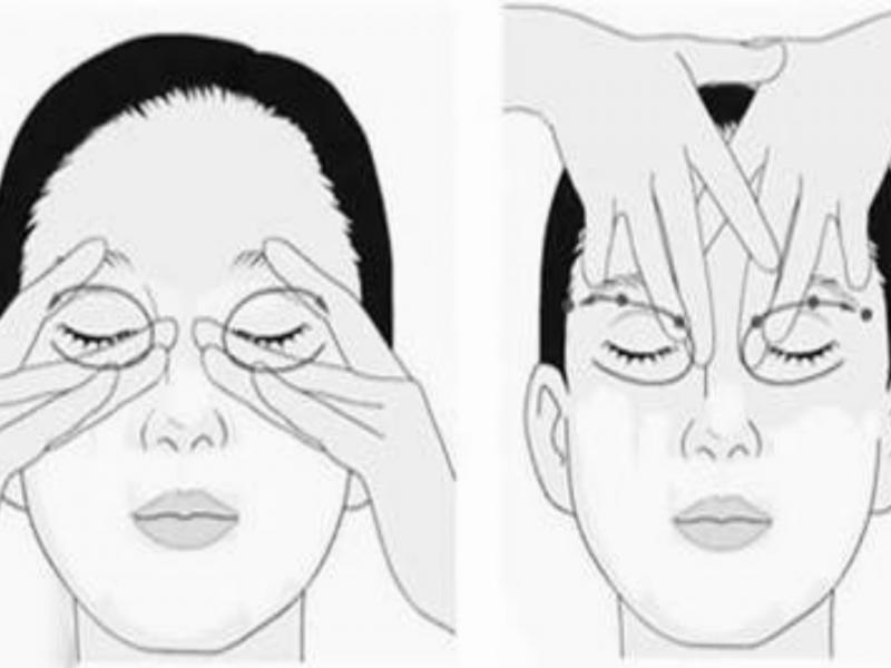 Bài tập giúp mắt to hơn bằng cách massage